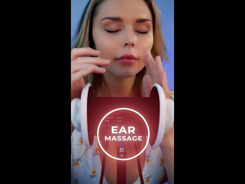 soothing ear massage (full video going up in less than an hour on my channel) #asmr #shorts