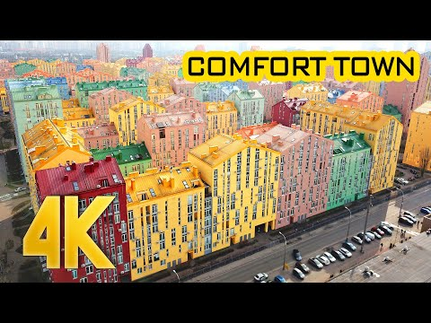 Comfort Town 4K Drone Fly around Residential Complex | Bird's Eye Views Footage