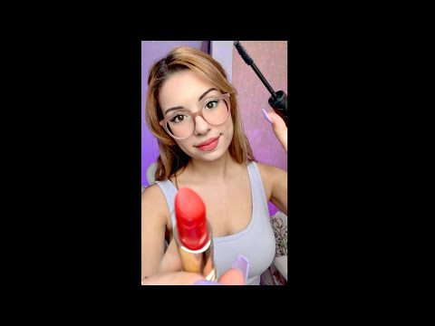ASMR Doing YOUR Makeup Fast & Aggressive #shorts layered sounds, personal attention under a Minute !