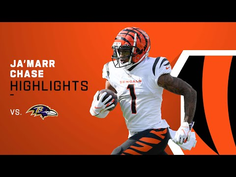 Every Ja'Marr Chase Catch from 201-Yd Game vs. Ravens   NFL 2021 Highlights
